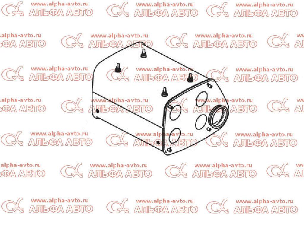 Dinex 49381 Глушитель MAN F2000