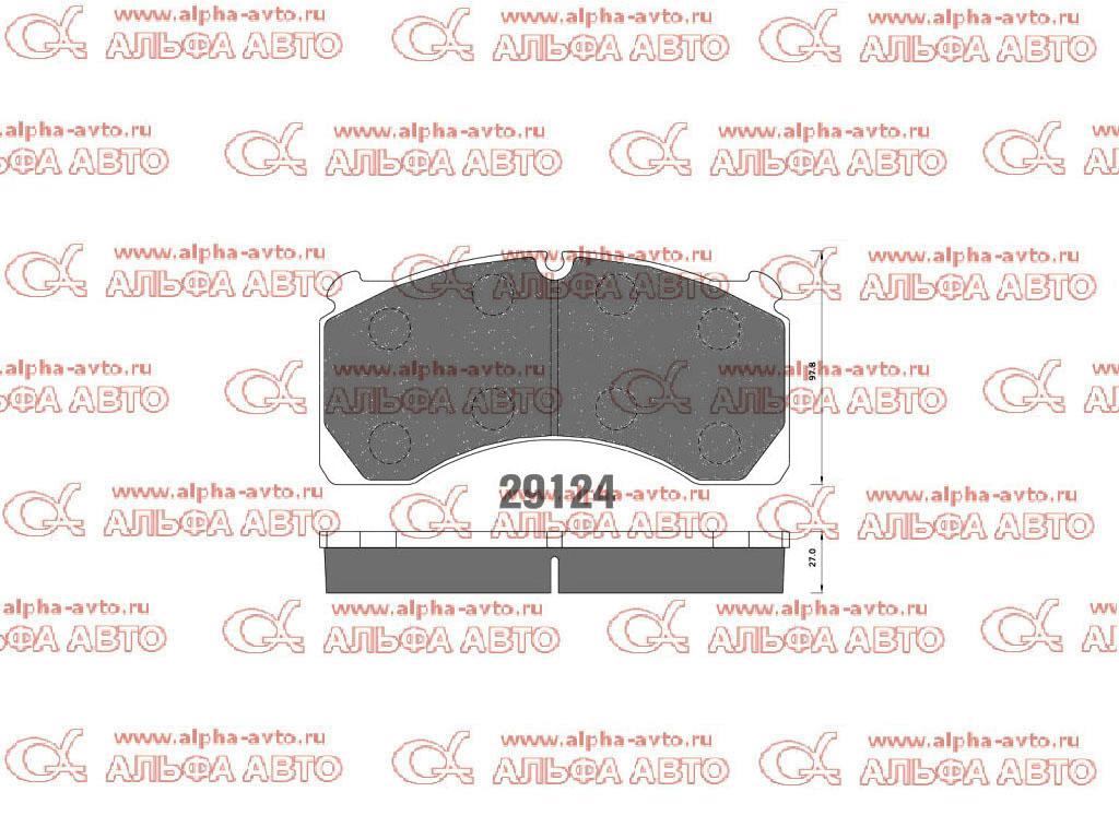 DB 124 Колодки дисковые 29124