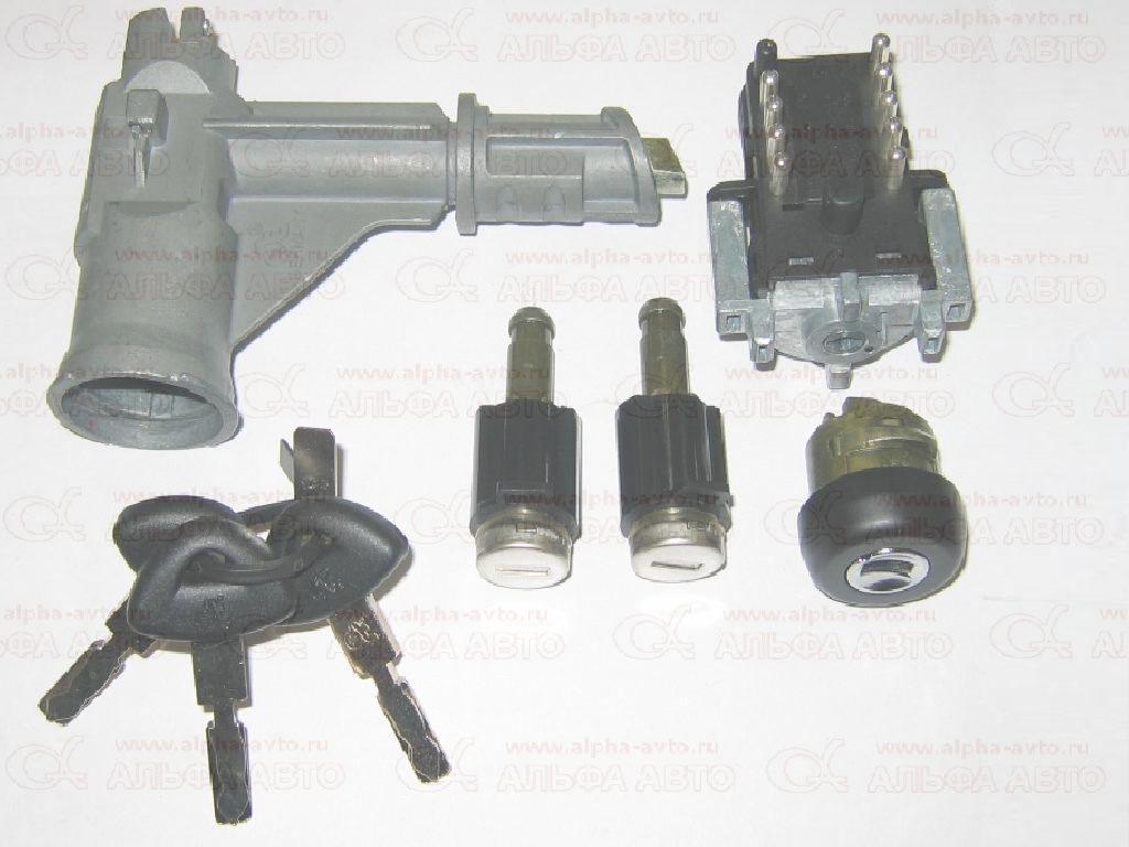 Diesel Technic 119231 Замок зажигания Scania 4 комплект +личинки с контактной группой