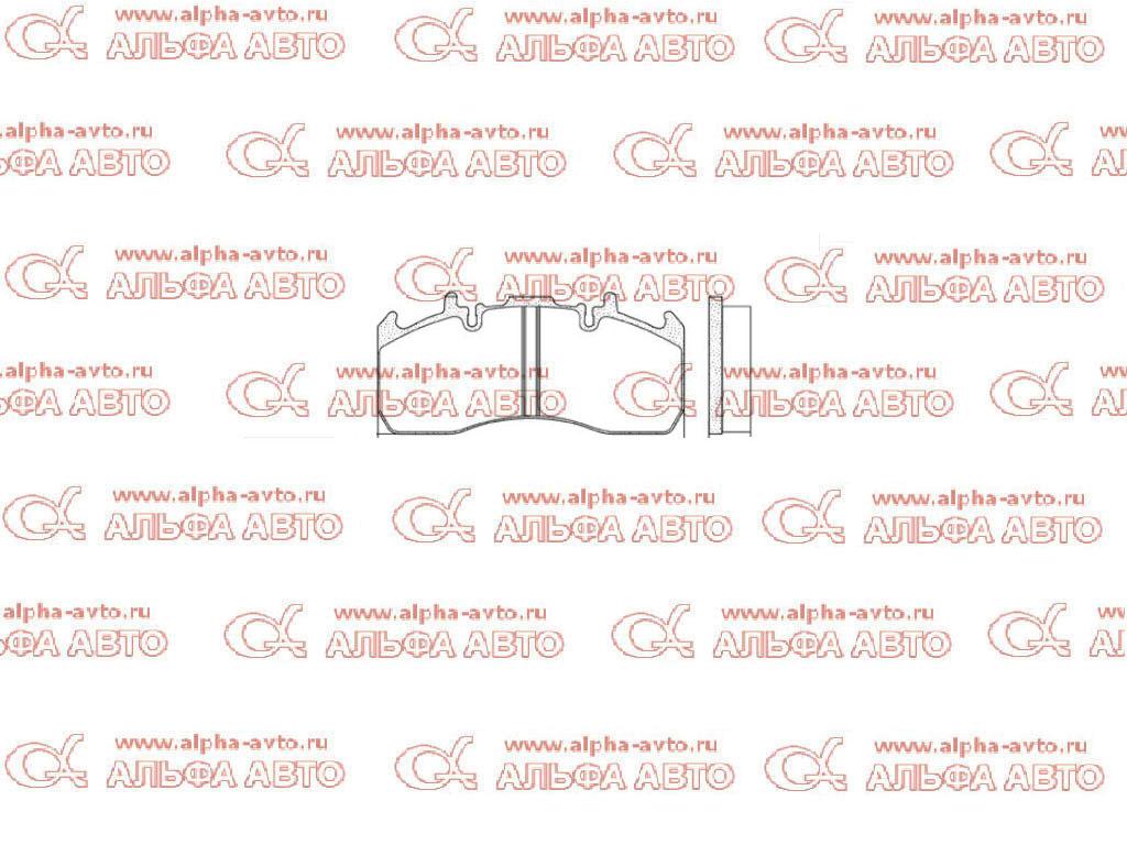 S&K SK29203-00N Колодки дисковые 29173/29203 Magnum/Premium/Midlum,Volvo FL/FH зад