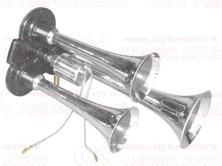 Y-301 Сигнал пневматический трехрожковый хром 24V