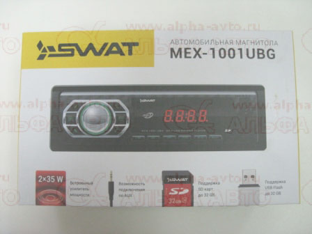 MEX-1001UBG Магнитола SWAT SD/MP3/USB