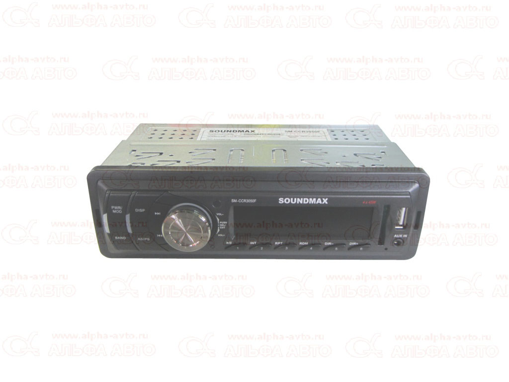 SM-CCR3050F Магнитола SOUNDMAX USB/SD/MMC