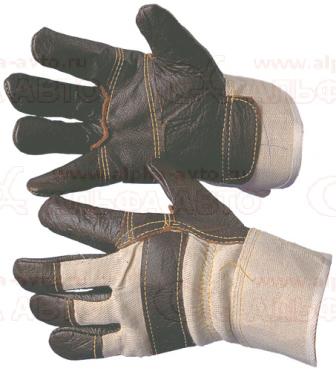105.142 Перчатки кожаные с искусственным мехом