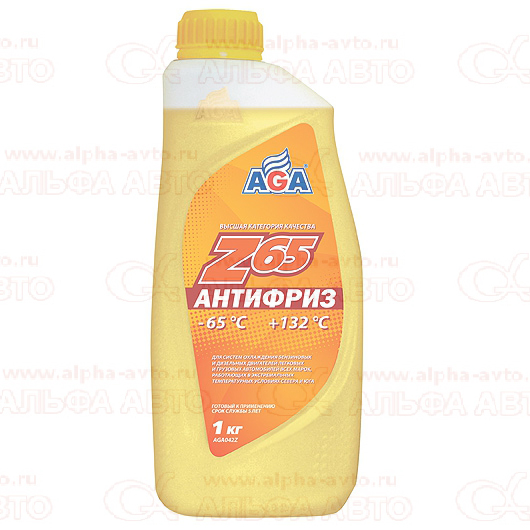 Антифриз AGA 1л желтый