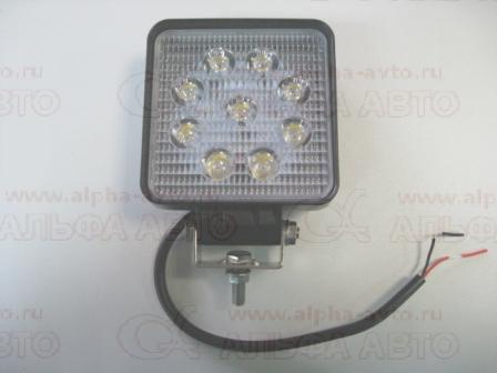 АТ15736 Фонарь рабочего освещения 10-30V 27W 110х110мм 9led