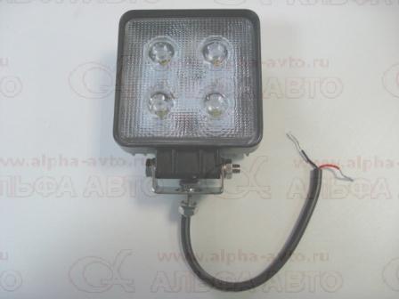 АТ15737 Фонарь рабочего освещения 10-30V 40W 110х110мм 4Led