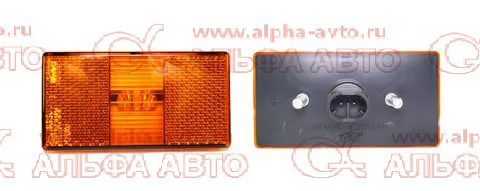 50.3731-08 Указатель габаритов боковой КАМАЗ Евро (разъем 2-ух контактный овал 282080-1)