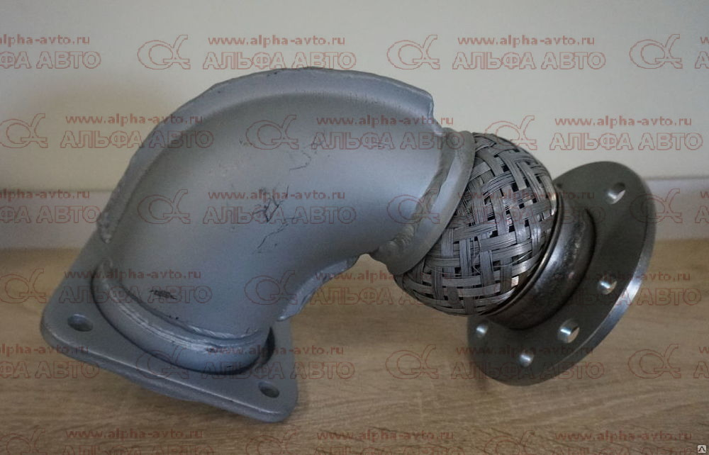 54115-1203010-20 L=22 Патрубок приемный КАМАЗ Евро левый (завод металлокомпенсатор)